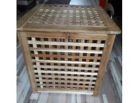 Ikea wooden laundry basket
