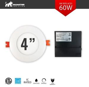 "SALE!! 4"" LED Slim Panel/Pot Light IC RATED 9W 3/4K/5K cETL ES DIMMABLE  AS LOW AS $9.99"