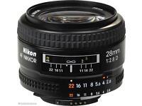 Nikon Nikkor 28mm 2.8 Af D wide lens