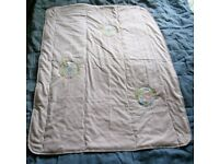 3 BABY QUILTS & 1 Foot Ballers DUVET COVER
