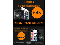 York Phone Repairs - Screen Replacements from £25 - Same Day Service - Battery Replacements from £20
