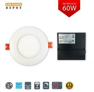 SALE!! 4 inch LED Slim Panel/Pot Light IC RATED 9W 3K/4K/5K cETL ES DIMMABLE  AS LOW AS $9.99