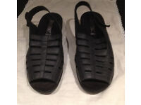 Hotter navy leather Rosella sandals size 6.5 UK