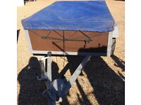 6ft by4ft Heavy duty car trailer can Carry one ton new jockey wheel all new lights like new £365