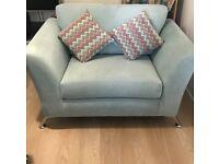 Light blue snuggle chair