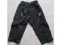 Sondico Black Padded Goalkeeper Pants, age 11-12