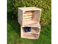 Wooden fruit wine Crate Retail Shelf Box Storage Christmas gift