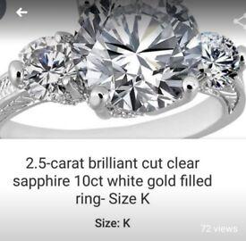 Ring size k