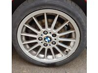 Bmw alloy wheels 5x120 with excellent tyres falken . Goodyear . Came off a z3 3.0 staggered