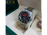 Rolex Deep Sea Deweller Swiss ETA sweeping movement £120 Waterproof Heavy weight box accesories
