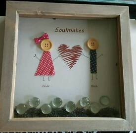 Handmade personalised soulmates picture