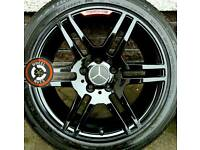 "17"" Genuine AMG Mercedes alloys refurbished staggered fitment with matching Bridgestone tyres."