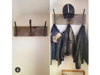 Coat and helmet hooks