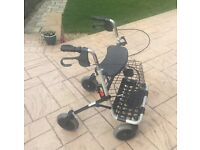 4 wheeled rollator / mobility walker for sale - almost new