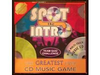 'Spot The Intro' Team Quiz Challenge CD Game (new)