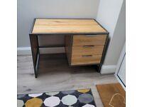 Solid Desk - Oak Furniture Land (Brooklyn range)