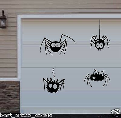 Silly Spiders Qty 4 ~  Halloween Wall or Window Decal