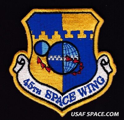 AUTHENTIC - 45TH SPACE WING -AIR FORCE- NASA SPACEX USAF SPACE OPERATIONS PATCH
