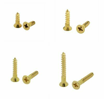 400 Qty Assorted 6 Flat Head Solid Brass Phillips Head Wood Screws Bcp117
