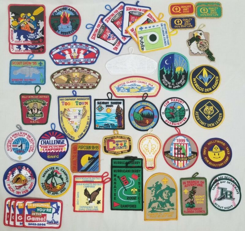 Lot of 47 Boy and Cub Scouts Patches BSA