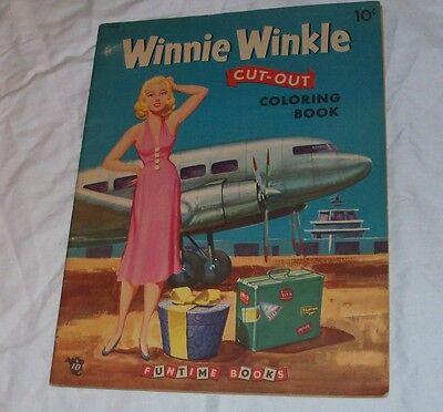 Vintage Original UNCUT Winnie Winkle Paper Dolls Coloring Book Unused