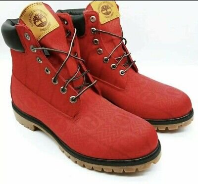 """NEW Timberland Mens SIZE 10 A27RA 6"""" PREMIUM V65 RED BOOT"""