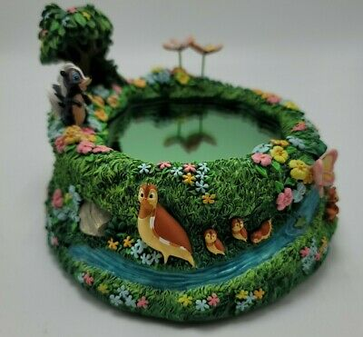 Disney Bambi Friends Music Box LITTLE APRIL SHOWERS Musical Pond INCOMPLETE