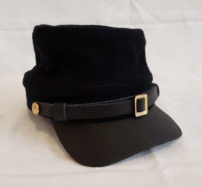American Civil War Union Officers Enlisted Wool Kepi Visor Hat Cap