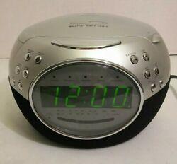 Jensen JCR-535W CD Clock Radio AM FM Weather Band Dual Alarm 2005