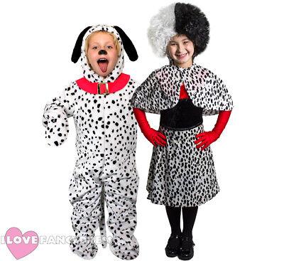 CHILDS DALMATIAN CHARACTER COSTUME SCHOOL BOOK WEEK FANCY DRESS BOYS GIRLS
