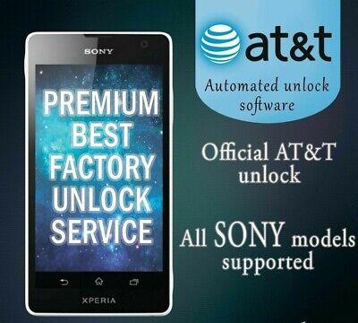 FACTORY UNLOCK SERVICE AT&T CODE SONY FOR XPERIA ION Z5 Z4 Z3 Z2 Z1 ALL MODELS ()