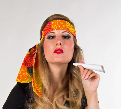 Hippie Stirnband bunt Haarband 70er Jahre Zopf Band Tanz Show Party Fasching neu