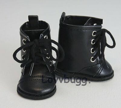 "Lovvbugg Black Lace Up Horse Riding Boots for 18"" American Girl or Boy or Bitty Baby Doll Shoes"