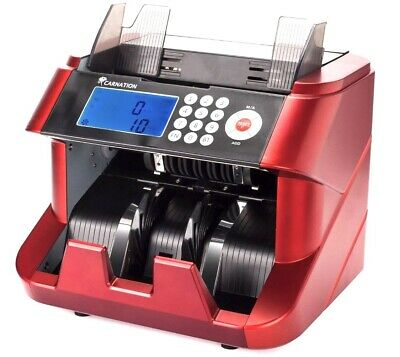 Carnation Bank Grade Bill Cash Counter Fast User-friendly Money Counting Machine
