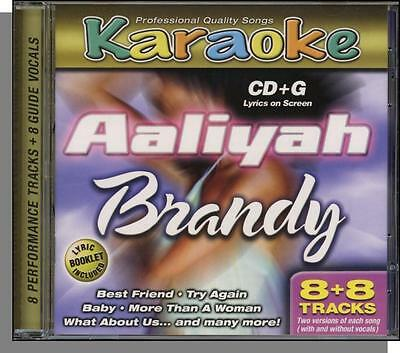 Karaoke CD+G - Aaliyah & Brandy - New 8 song CD! More Than a Woman, Best