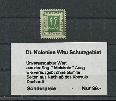 DT. KOLONIEN MALAKOTE 16 PESA unverausgabter Wert (*) m330