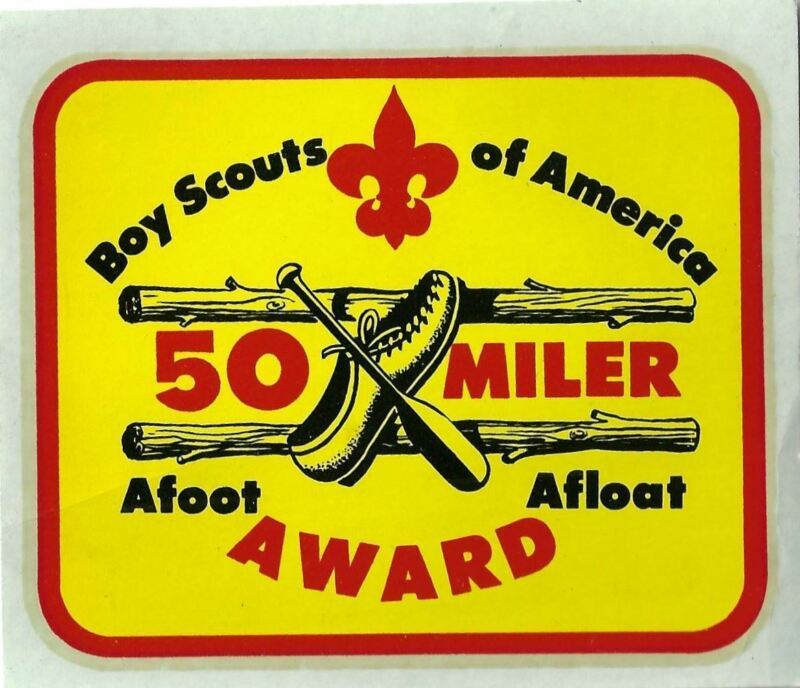 Boy Scouts Of America 50 Miler Afoot Afloat Award Decal [MX-9770]