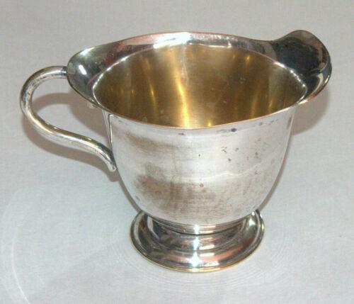 Vintage Silver Plated Brass Gravy Boat Sauce Dish