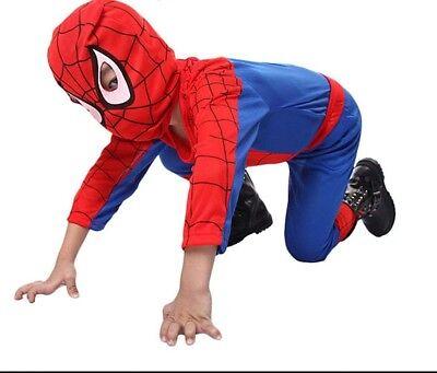 Spiderman Costume Superhero Cosplay Fancy Dress Halloween Party For Kids Boys - Spiderman Dress For Halloween