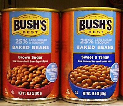 Bush's 25% Less Sugar & Sodium Baked Beans (Pack of 3) Brown Sugar/Sweet & (Brown Sugar Baked Beans)