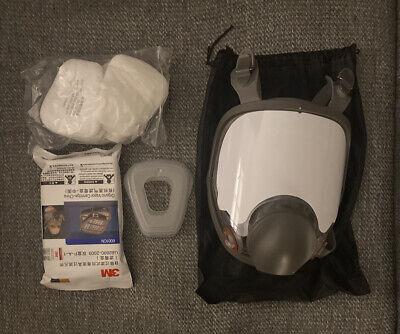 6800 Full Face Respirator Painting Size Medium Fits 3m Cartridge
