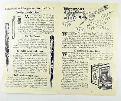 L. E. Waterman Company Fountain Pen Instructions