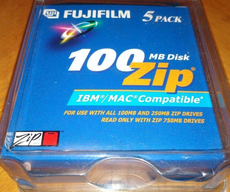 Fujifilm 100MB Disk Zip IBM/MAC Compatible 5 Pack