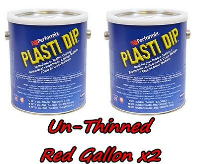 2 Gallons Red Unthinned Performix Plasti Dip Concentrate Full Strength Free Sh