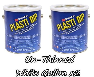 2 Gallons White Unthinned Performix Plasti Dip Concentrate Strength Free Sh