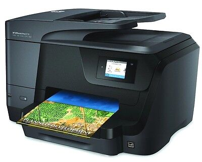 HP OfficeJet Pro 8710 Wireless All in One Photo Printer w/ Mobile Printing NEW
