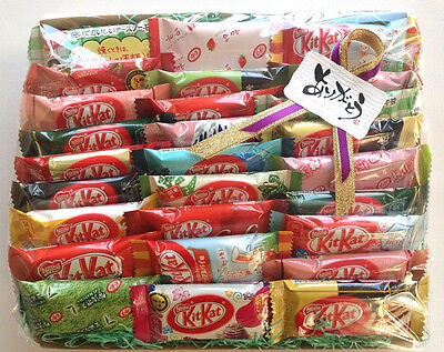 Japanese kitkats nestles kit kats candy melon sake NEW Banana cookie&cream 27P