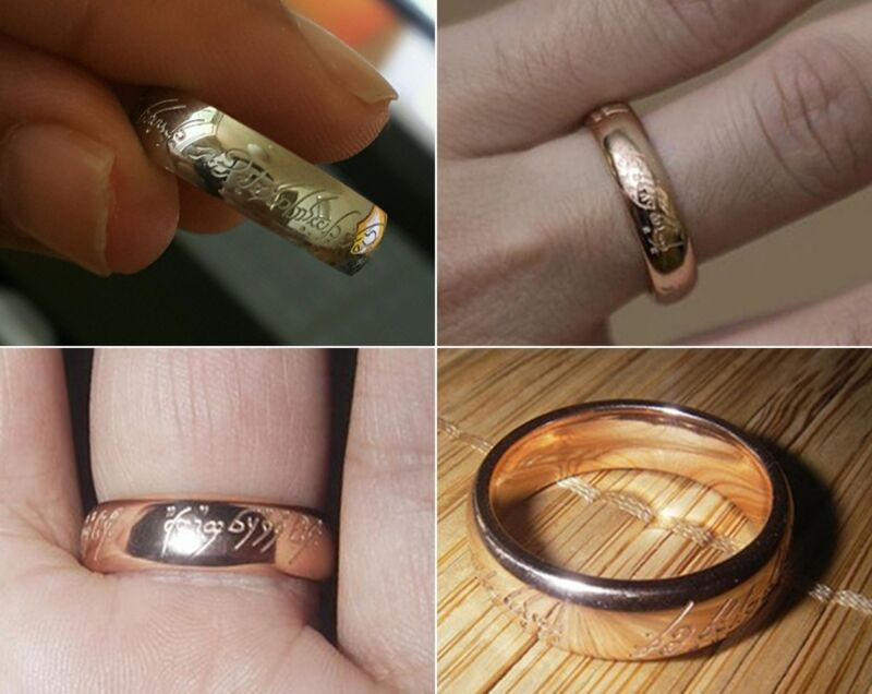 CA Rose Gold New The Lord of the Rings The One Rings Magic TLOR Size US 7 3/4