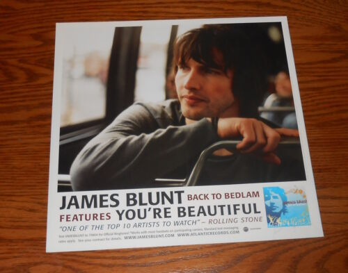 James Blunt Back to Bedlam Poster 2-Sided Flat Square Promo 12x12