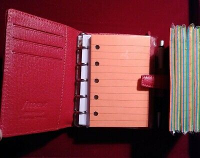 48 Colored Ruled Refills For Filofax Mini Organizers With 5 Holes
